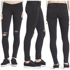 Rag & Bone Skinny Jeans Rock Holes Distressed Raw